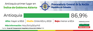 Antioquia primer lugar en u00cdndice de Gobierno Abierto